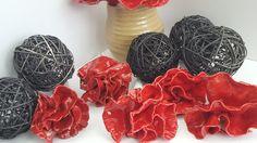 Red Ceramic Flowers by Ana Couper Ceramics Katikati New Zealand  www.anacouperpottery.com