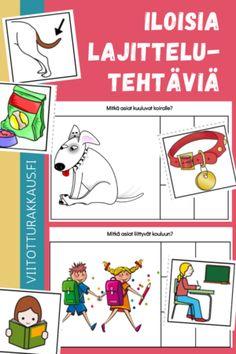 Arkisia puuhia - Viitottu Rakkaus Preschool Math, Kindergarten, Happy Together, Language, Education, Comics, Learning, Tejidos, Studying