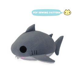 Sewing Pattern Shark Plush Shark PDF Great White Shark