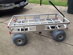 Beach cart Fishing Trolley, Beach Fishing Cart, Beach Cart, Trailer Dolly, Little Trailer, Chariot Manutention, Best Wagons, Snow Vehicles, Garden Wagon