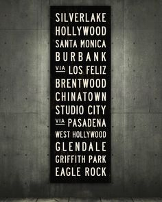 Los Angeles Subway Sign - LA
