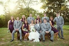 grey and purple wedding party :)
