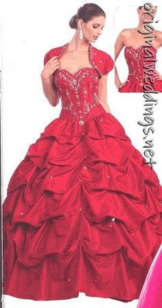 Red Ball Gown - Bride #weddings