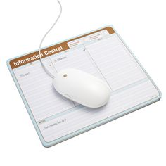 Our Information Central Mousepad really clicks when it comes to productivity. It keeps information literally at your fingertips so you won't have to search for an errant sticky note.