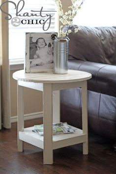 diy round side table, diy, woodworking projects, DIY Round Side Table
