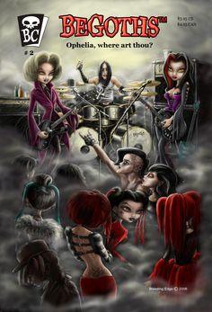 Cover art for BeGoths graphic novel.