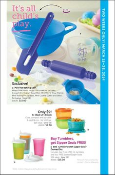 Last day to place your kids baking set is on March 28! www.trudesquintanilla@my2.tupperware.com