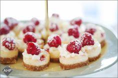 Some delicate mini rasberry cheesecakes