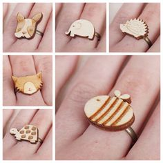 Wooden Animal Rings…Buy Two Get One Free