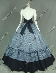 civil+war+reenactor+clothes | Civil War Victorian Viscose Cotton Ball Gown Dress Reenactment ...