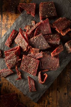 Marinated smoked beef jerky recipe is a healthy snack idea especially for on the go.