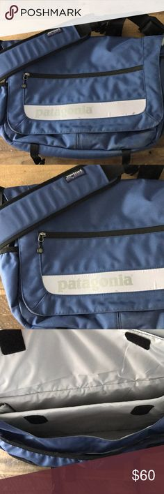 "Patagonia messenger bag Gently used condition. Padded sleeve accommodates most laptops up (up to about 17""). Comfortable for wearing over your shoulder, durable and weather resistant. Great messenger for men or women for traveling, toting your laptop or commuting to work! Patagonia Bags Backpacks"