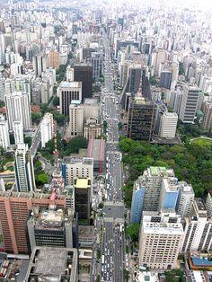 Avenida Paulista, featuring São Paulo Art Museum (MASP) and Trianon Park
