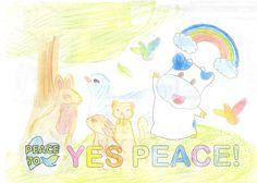 「森」 みんなが笑顔の優しい世界が平和だと思います。(ひなたさん・12才)