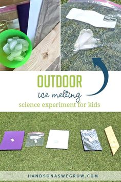 This outdoor melting ice science experiment is sure to engage your little scientists! Find out what makes ice melt faster on a hot summer day. Have fun! Gross Motor Activities, Outdoor Activities For Kids, Sensory Activities, Hands On Activities, Toddler Activities, Steam Activities, Teaching Calendar, Ice Melt, Science Experiments For Preschoolers