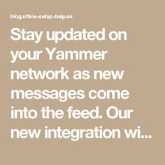 Stay updated on your Yammer network as new messages come into the feed. Our new integration with The Social Radio provides Yammer users a unique offering: to listen to their Yammer messages, read aloud through The Social Radio interface.  The Social Radio reads new Yammer messages, polls, events and praise as they come through the feed, while you simultaneously listen to music. To use, just sign in to The Social Radio using your Yammer credentials and The Social Radio will begin reading your…