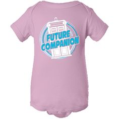 Doctor Who Future Companion Value Infant Creeper - Light Pink | Squiggly Boo Baby Clothes