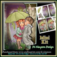 Mini Kit Over the Edge Love is in the Air 3 on Craftsuprint - Add To Basket!