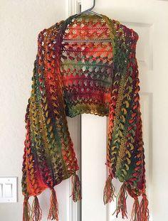 Sunrise Shawl - Hairpin Lace - Crochet Pattern