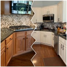 Refurbishing old kitchen cabinets What do you need Classic Professional Painting Kitchen Cupboard Doors? Refurbished Kitchen Cabinets, Spray Paint Kitchen Cabinets, Kitchen Cabinets Painted Before And After, Before After Kitchen, Kitchen Cupboard Doors, Refacing Kitchen Cabinets, Kitchen Cabinet Colors, Painting Cabinets, Updating Cabinets