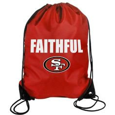 NFL San Francisco 49ers 2013 Slogan Drawstring Backpack *** Details can be found by clicking on the image.