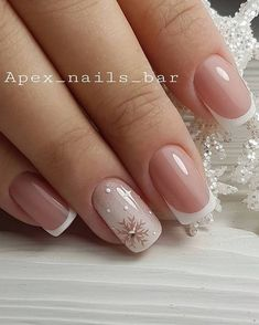 White Acrylic Nails, Pink Nail Art, Best Acrylic Nails, Chic Nails, Classy Nails, Stylish Nails, Manicure Nail Designs, Nail Manicure, Gel Nails