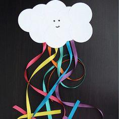 Smiling Cloud and Rainbow Craft   AllFreeKidsCrafts.com