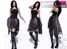 b54a842f365bb0 Full Perm Rigged Mesh Burlesque Corset Dress Burlesque Corset