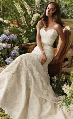 Vestido de novia corte sirena con encaje