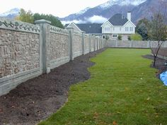 concrete fences -