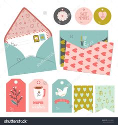 Inspirational Romantic And Love Card, Stickers, Labels, Tags And Ribbons With Cute Elements, Icons, Typography, Greeting And Wishes For Happy Valentines Day. Good For Holidays Scrapbooking Stock Vector Illustration 244140601 : Shutterstock