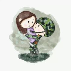 Military Love, Military Art, Wallpaper Iphone Cute, Cartoon Wallpaper, Lee Minh Ho, Best Kdrama, Cute Couple Cartoon, Hyun Bin, Doodle