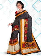 Black Color Bhagalpuri Casual Wear Sarees : Triya Collection YF-28434