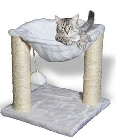 Cat Tree Hammock Scratch Post House Net Bed Furniture for Play with Toy  #OxGord  EBay $19.95 free shipping   13H x 12D