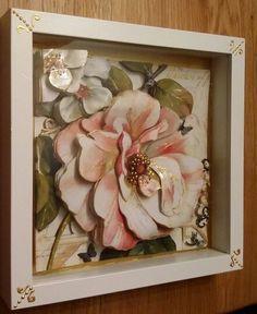 Paper tole  Didem Yüksel 3d Paper Art, Paper Crafts, Decoupage Art, Bottle Art, Shadow Box, Paper Flowers, Carving, Crafty, Eminem