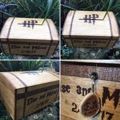 Wedding card box wooden lockable chest with by Theburnttree