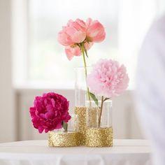 Resultado de imagem para vaso com glitter branco