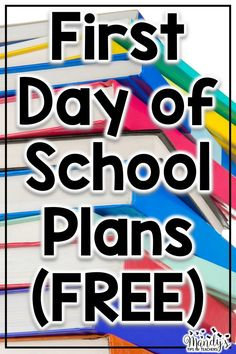 FREE first day of school lesson plans