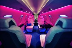 Hot pink jet!! #privatejets #exquisiteaircharter