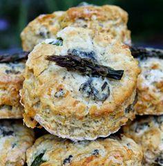 asparagus & stilton scones - gluten free