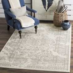Safavieh Adirondack Vintage Ivory/ Silver Rug (9' x 12') - 16068704 - Overstock - Great Deals on Safavieh 7x9 - 10x14 Rugs - Mobile