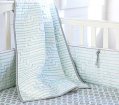 Preston Crib Fitted Sheet | Pottery Barn Kids