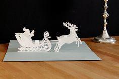 pop-up card 'Sleigh' by faltmanufaktur