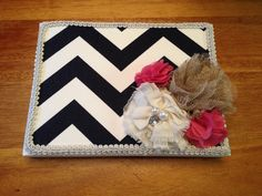 Made this chevron guest book today for SarahBeth's Baby Shower.