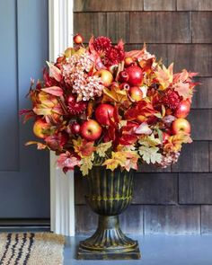 Warm up your spaces with fall foliage that looks freshly picked from the orchard. Choose this sweet collection to take the beauty of the harvest season home. Fall Flowers, Dried Flowers, Wedding Flowers, Fall Festival Crafts, Apple Farm, Fall Flower Arrangements, Balsam Hill, Wreaths And Garlands, Spiced Apples
