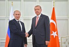Kreml-Chef Putin und sein türkischer Amtskollege Erdogan. Gemeinsam wollen sie das Problem im Syrien-Konflikt lösen. (Foto: dpa)