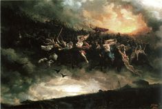 The wild hunt of Odin by Peter Nicolai Arbo