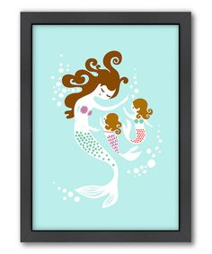 Take a look at the Mermaid Daughters Wall Art on #zulily today! Would be cute if we have another girl