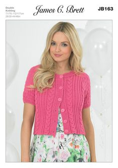 Ladies' Cardigan in James C. Brett Cotton On DK - JB163