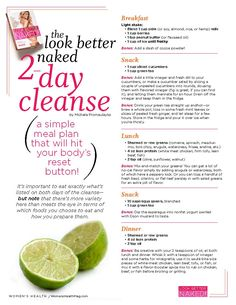 The Look Better Naked 2-Day Cleanse Diet by Womens Health